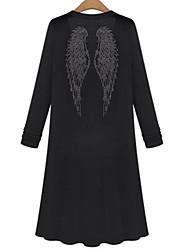 Boléro Aux femmes Manches Longues Décontracté Polyester Opaque