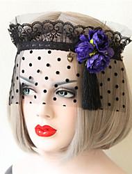 Party Flowers Fringed Gauze Mask
