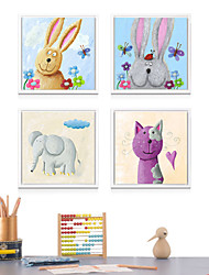 Canvas Print with Frame for Children's Room Style 4pcs