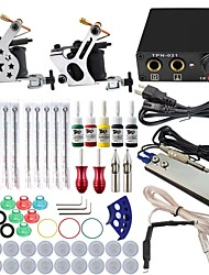 ITATOO® Machine Tattoo Gun Kits 5ML Yellow Red Pigment 8 Wrap Tattoo Machines and Power Unit