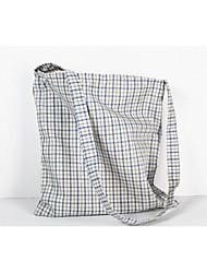 Women Cotton Shopper Shoulder Bag - Blue