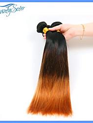 2bunldes 7a peruano pelo ombre virginal teje peruana del pelo humano de dos cabellos tres tonos recta omber pelo