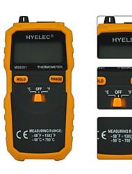 hyelec ms6501 grande display LCD termômetro digital tipo k termopar termometro com dados segure / logging
