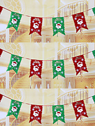 "6PCS/SET 20*29CM/7.9*11.4"" Christmas Decoration Bunting Hanging Flag Santa Claus Xmas Pennant Flags"