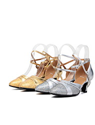 Women's Dance Shoes Belly / Latin / Dance Sneakers / Samba Leatherette / Sparkling Glitter / Paillette / SyntheticCuban
