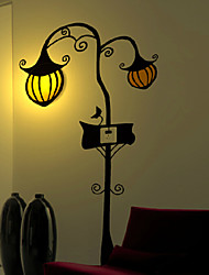 220V Pumpkin  High Temperature Resistant Plastic LED Light And  Creative 3D Wall Paper Wall Lamp