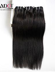 "3Pc Lot 8-30"" Mongolian Virgin Hair Straight Unprocessed Human Hair Weave Bundles Cheap Natural Black Hair Extensions"