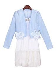 Informell V-Ausschnitt - Langarm - FRAUEN - Anzüge ( Polyester )