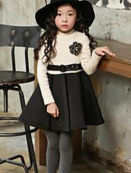 Vestido Chica de - Invierno / Otoño - Algodón - Negro / Beige