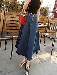 Women's Retro High Waist Denim Skirt