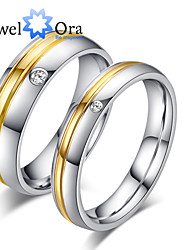 New Noble Fashion Titanium Steel Wedding Gold Ring Couples Ring For Women&Man