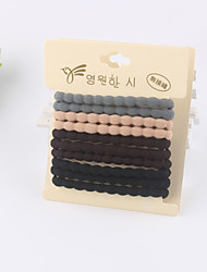 Kid's 10 pieces in Card High Quality Elastic Hair Bands