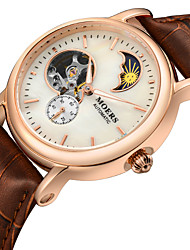 moers rodada pulseira de couro relógio de marcação magro auto-liquidação relógio automático feminino (cores sortidas)