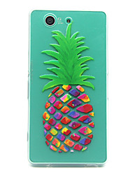 pineapple Pattern TPU Relief Back Cover Case for Sony Xperia Z3 Compact