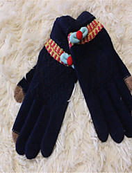 New Lady Fingers Touch Screen Jacquard Weave Gloves