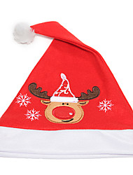 Flannelette Embroidered Christmas Hat(Deer)