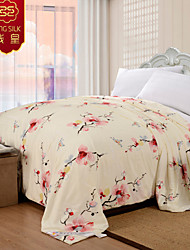 Summer Blanket 100% Cotton Wedding Comforter Pink Silk Quilt Jacquard Silk Blanket Wedding Bedding Sets