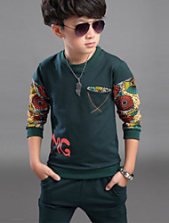 Boy's Cotton Clothing Set,Spring / Fall Print