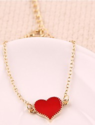 Women Ladies Charm Jewelry Red Love Alloy Bracelet Bangle