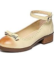 Women's Shoes Chunky Heel Heels Heels Outdoor / Casual Gray / Beige