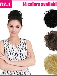 14 couleurs extension de cheveux queue de cheval postiche chignon mariée chouchou de faux cheveux ondulés Q7