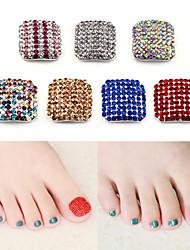 manucure patch pied avec un alliage de bijoux en diamant de 7 couleurs en option