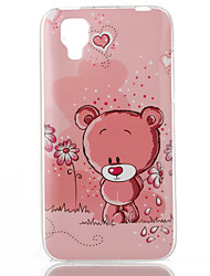 Bear Pattern TPU Phone Case for Wiko Sunset