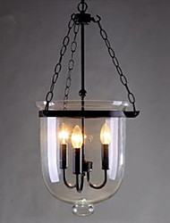 Circular Country Glass Pendant Lamp