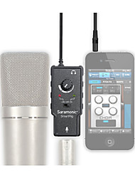 xlr microfoon voorversterker audio adapter met phantom power voor Apple iPad iPhone 4 5 6 plus android smartphone