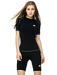 Running Tops Women's Short Sleeve Wearable / Compression / Lightweight Materials / Soft / Sweat-wicking TeryleneYoga / Pilates / Fitness