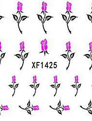 1 PCS 3D Water Transfer Printing Nail Stickers XF1425