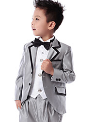 Polester/Cotton Blend Ring Bearer Suit - 5 Pieces Includes  Jacket / Shirt / Pants / Waist cummerbund / Bow Tie