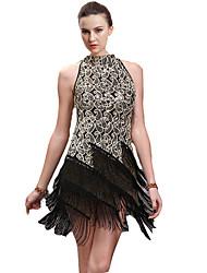 Danse latine Robes Femme Spectacle Coton Elasthanne 1 Pièce Sans manche Robe