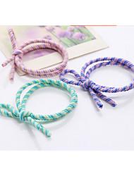 волосы держатели лук канатные резинки Резинки для волос группа волосы галстук для девочек женщин / аксессуары для волос многоцветной 10шт