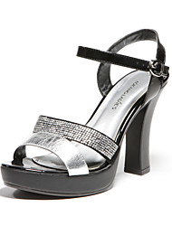 Wool Low Heel Sandals Silver