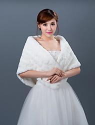 Wedding Faux Fur Bruiloft Wraps Shawls Mouwloos