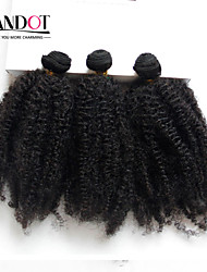 3Pc Lot Peruvian Afro Kinky Curly Virgin Hair 100% Human Hair Weave Bundles Peruvian Curly Hair Extensions Natural Black