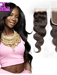 8~20inch in Stock Malaysian Body Wave Human Hair Closure with Baby Hair Bleached Knots Lace Closure
