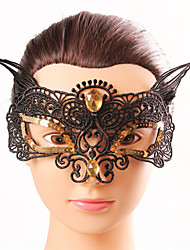 Halloween Fashion Sexy Fox Diamond Black Lace  Tassel Eye Wear