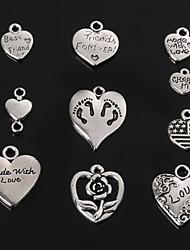 Charms / Pendants Metal Heart Shape As Picture 4-18pcs