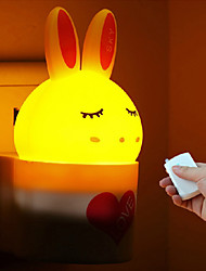 Creative Remote Controller With Infrared Ray Rabbit ABS LED Light Night lamp 110-220V