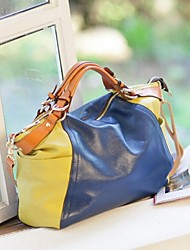 Women PU Sling Bag Shoulder Bag - Yellow