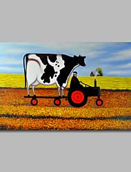 ручная роспись маслом на холсте стены искусства тяжелые масла животные корова фермы дома деко одна панель готовы повесить