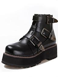 Women's Shoes Suede Winter Comfort Outdoor Platform Black / Brown