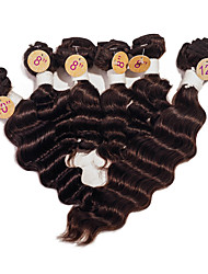 Brazilian Virgin Deep Wave Human Hair Weaves #2 Dark Brown Top Grade Deep Wave Hair Weavings