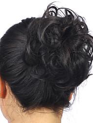 las mujeres con estilo de cola de caballo caliente clip en el postizo moño pelo sintético extensión de banda para el cabello