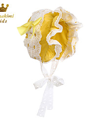 Eyelet Lace Belle Bonnet Handmade Yellow (Newborn - 3 Years)
