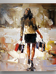 Peint à la main Célèbre / Portraits AbstraitsModern Un Panneau Toile Peinture à l'huile Hang-peint For Décoration d'intérieur