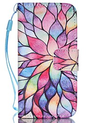 Flower Pattern PU Leather Material Flip Card Phone Case for iPhone 5C