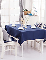 Blue Solid Lacy Design  Jacquard  Tablecloths Fabric Tea Tablecloth